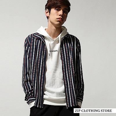 直條紋布勞森外套3色ZIP日本男裝