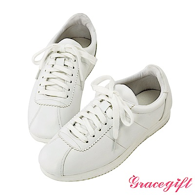 Grace gift-經典復古休閒鞋 白