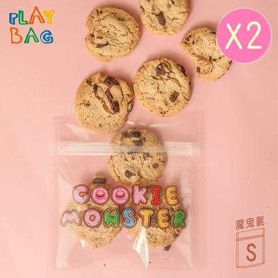 【PLAY BAG】魔鬼氈環保袋(小)10入 Cookie Monster*2