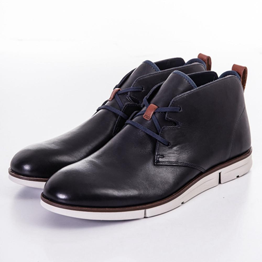 CLARKS Trigen Mid 男休閒鞋 藍
