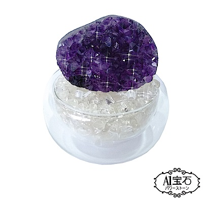 A1寶石 頂級晶鑽烏拉圭白水晶補運聚寶盆開運招財淨化磁場(含開光) @ Y!購物