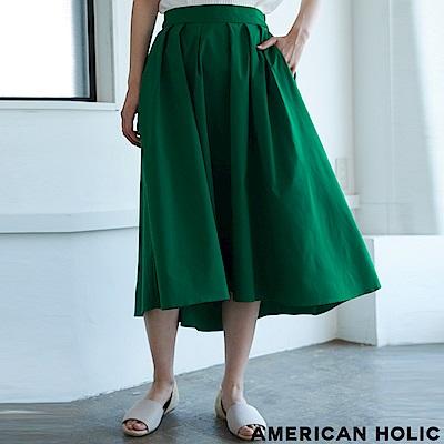 AMERICAN HOLIC 不規則下擺打褶裙
