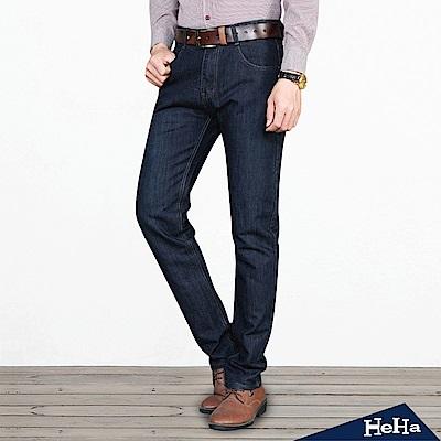 男士牛仔長褲 深藍色-HeHa