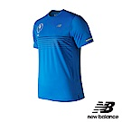 New Balance 短袖上衣 MT81201MLSB 男性 藍色