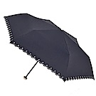 2mm 花邊刺繡星星黑膠降溫輕量手開傘 (星曜黑)