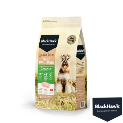 BlackHawk黑鷹 小型犬優選無穀雞肉豌豆 1.2KG  鴯苗油 澳洲 狗飼料 無穀飼料 小顆粒