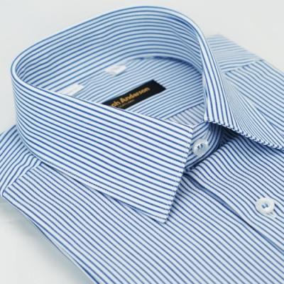 【金安德森】藍色條紋窄版長袖襯衫fast
