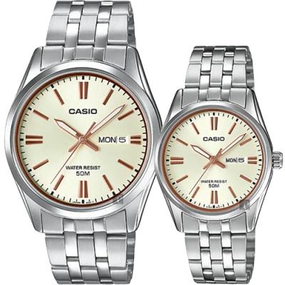 CASIO 卡西歐 情侶手錶 對錶 MTP-1335D-9AV+LTP-1335D-9AV
