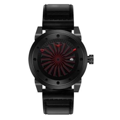 ZINVO 刀鋒戰士渦輪機械腕錶-黑X紅(BCRSA)/44mm