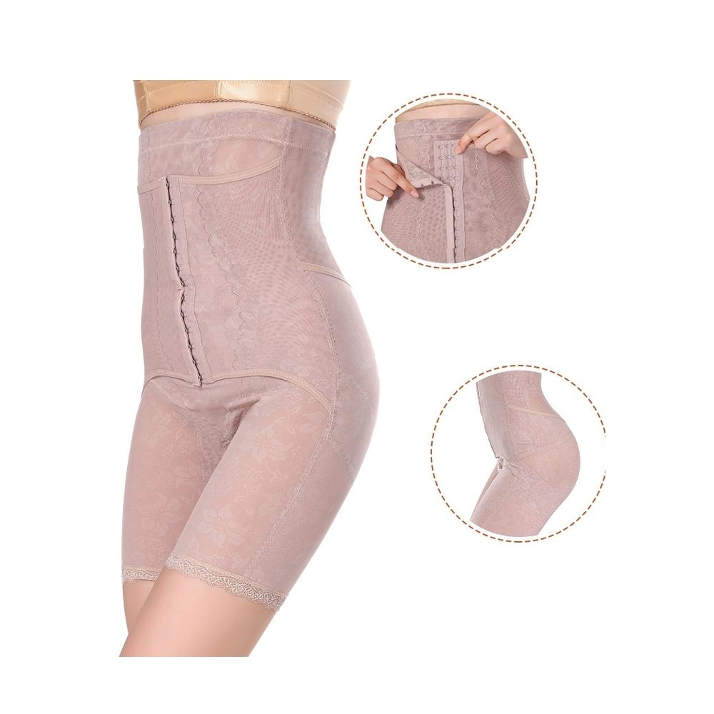 狐狸姬,小麗排扣素脫高腰平腹半身提臀塑身褲(膚XL-4XL)
