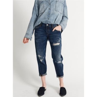 OneTeaspoon 牛仔褲-BAGGIES STRAIGHT-藍(女)