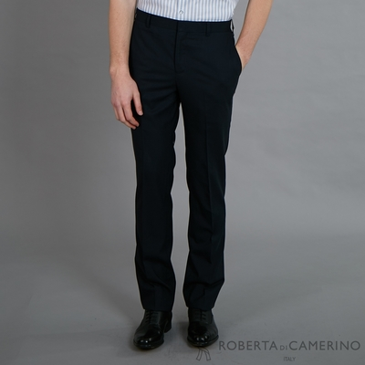 ROBERTA諾貝達 進口素材 修身時尚 流行西裝褲 黑色