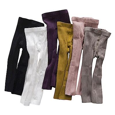 襪子褲襪童襪 精梳棉雙針糖果色純棉襪打底褲-2入