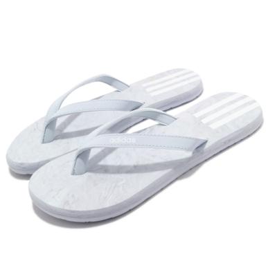 adidas 拖鞋 Eezay Flip Flop 夾腳 女鞋 愛迪達 輕便 舒適 穿搭 夏日 簡約 灰 白 FY8115