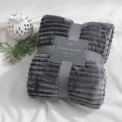 (加價購) MONTAGUT-精梳條紋空氣毯-買一送一-三色可選