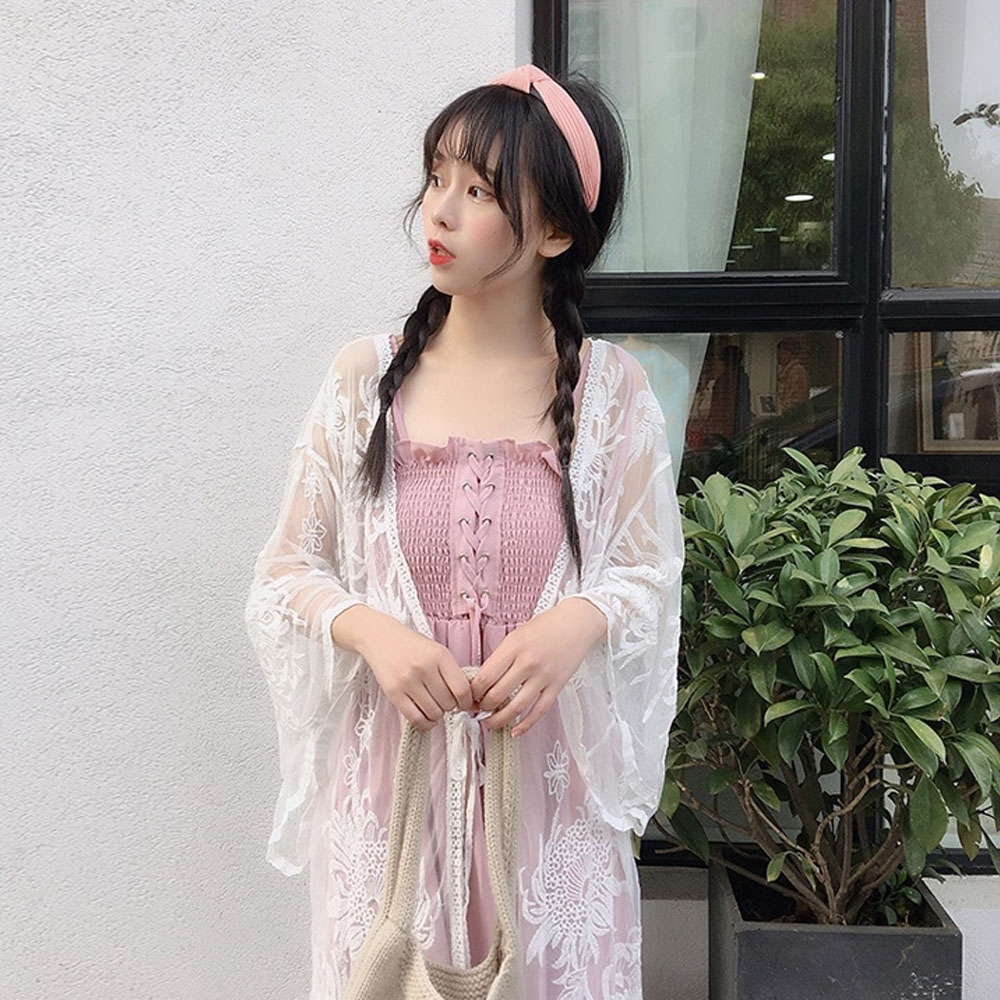 IMStyle 甜美海邊沙灘蕾絲罩衫【正品】