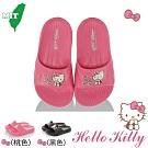 Hello Kitty童鞋 輕量減壓吸震室內外拖鞋-桃.黑