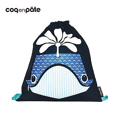 【COQENPATE】法國有機棉無毒環保布包 - 童趣輕鬆包- 鯨魚