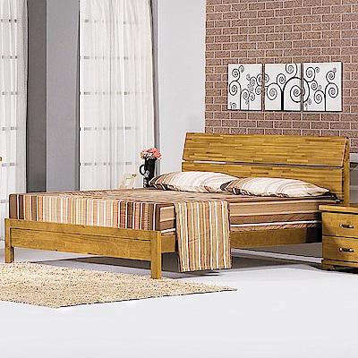 Bernice-布特思5尺實木雙人床架(不含床墊)-150x202x102cm