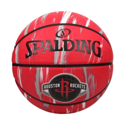 SPALDING NBA隊徽-火箭 #7籃球-室外 7號球 運動 斯伯丁 SPA84150 紅黑白灰
