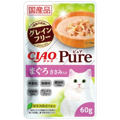 CIAO PURE餐包-鮪魚+雞肉(60g/包x16包)