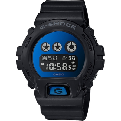 CASIO 卡西歐 G-SHOCK 經典坦克手錶-鏡面藍(DW-6900MMA-2)