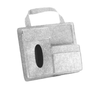 汽車 後座 毛氈 多功能 收納袋 / 車用收納 收納袋-灰色款-灰色*1