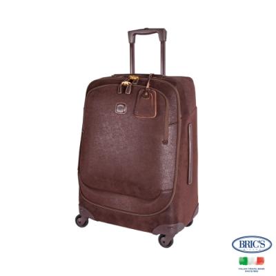 BRICS 義大利 LIFE 26吋 咖啡色 皮革拉桿箱 旅行箱 行李箱