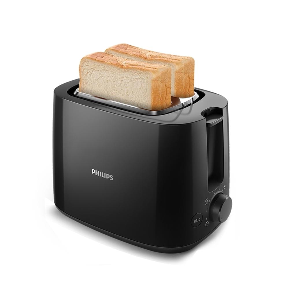 外箱異常商品完整-【飛利浦PHILIPS】電子式智慧型厚片烤麵包機HD2582/92(黑色)