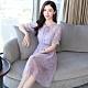 韓版網紗氣質雪紡洋裝S-XL(共兩色)-REKO