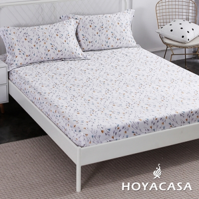 HOYACASA朵拉花園 雙人親膚極潤天絲床包枕套三件組