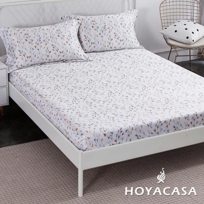 HOYACASA朵拉花園 加大親膚極潤天絲床包枕套三件組