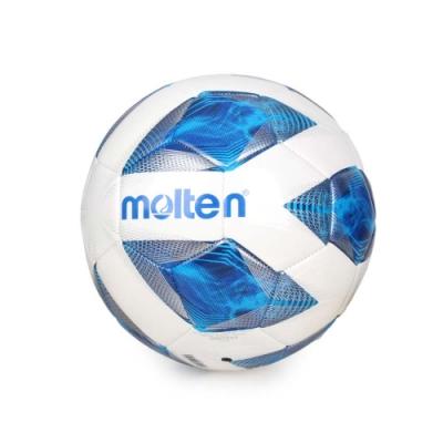 MOLTEN #4合成皮足球-訓練 4號球 F4A2000 白藍銀