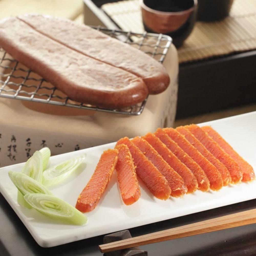 台灣野生烏魚子/一級(1片)+二級(1片)