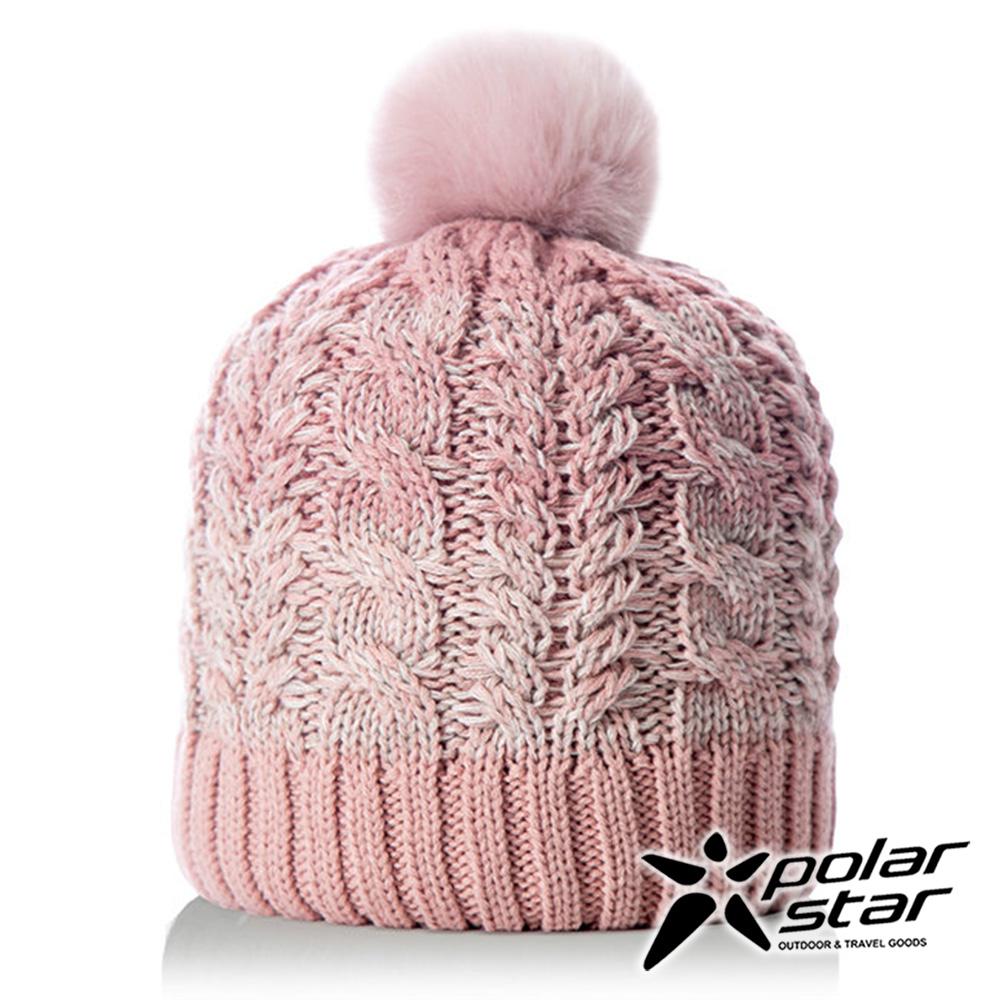【PolarStar】女漸層編織保暖帽『粉紅』P18604