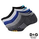 D&G 透氣避震足弓男襪-10雙組(D398)-台灣製造
