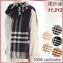 BURBERRY 100%喀什米爾羊毛圍巾