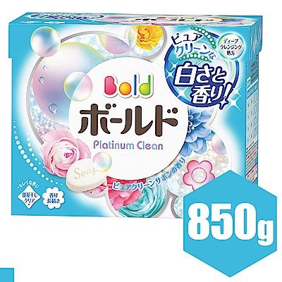 日本P&G Bold 白金花卉皂香洗衣粉 850g