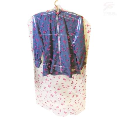 金德恩 台灣製造 全罩式衣物防塵防蟲防汙保護收納防塵套(1包4件)+1組衣物分類標示夾