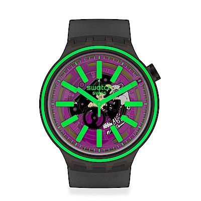 Swatch BIG BOLD光譜系列手錶 PINK TASTE 亮彩粉紅-47mm