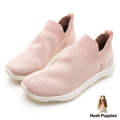 Hush Puppies Bounce Max 高效彈力休閒針織女便鞋-粉紅
