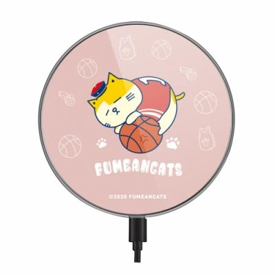 【TOYSELECT】黃阿瑪年度運動會無線充電盤 - 懶懶滾球球 (夢幻粉)