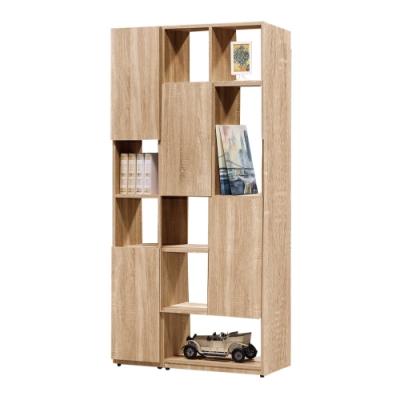 文創集 威爾比3尺雙面櫃(二色+四種組合可選)-90x30x180cm免組