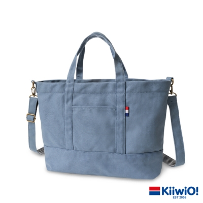 Kiiwi O! 百搭隨行系列2way帆布托特包 ZARA (A4 OK!) 莫蘭迪藍