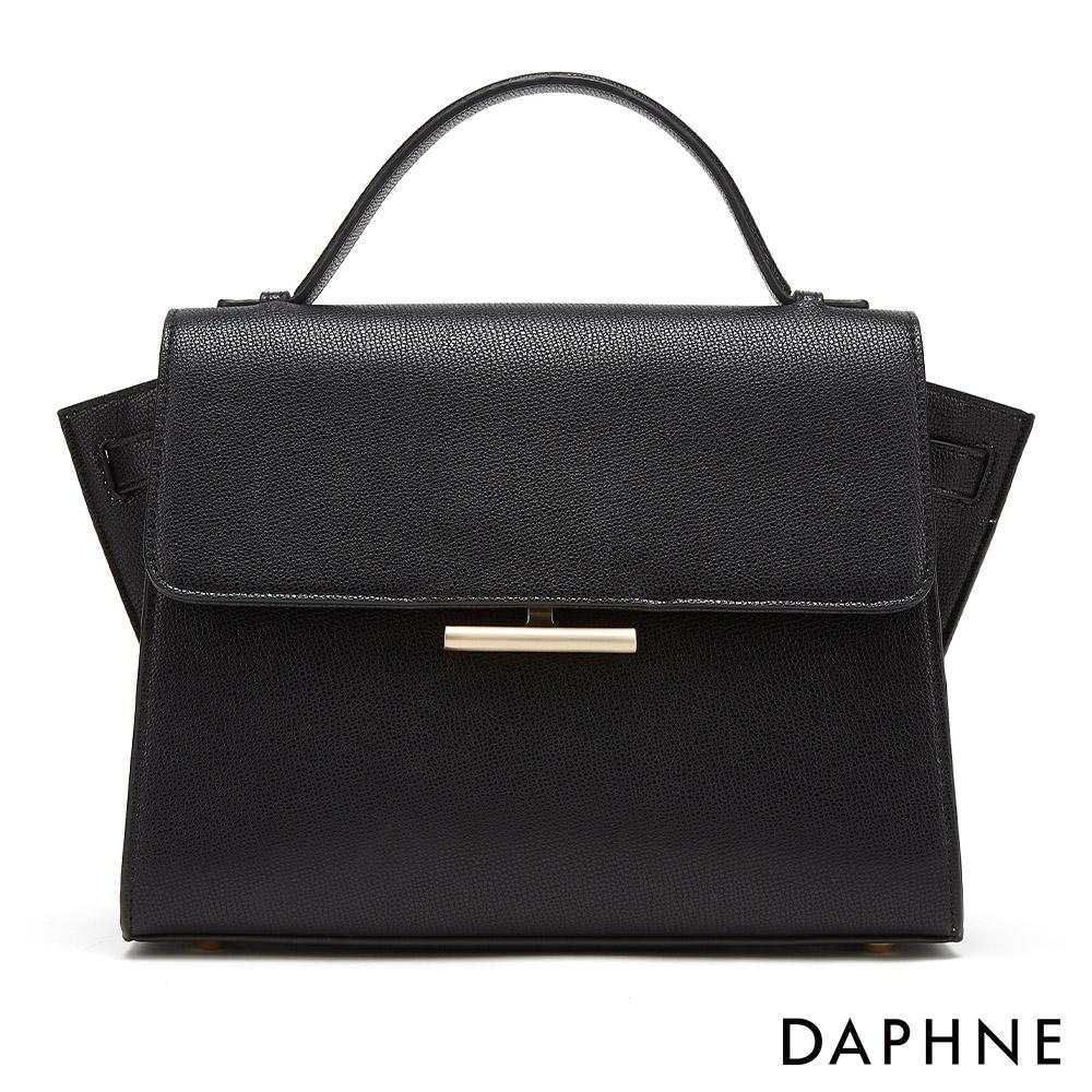 達芙妮DAPHNE-時尚經典通勤手提包-黑色