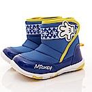 迪士尼童鞋 雪花米奇短靴款 FO54613藍(中小童段)