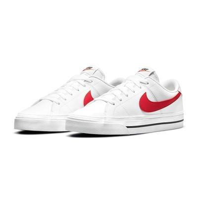 NIKE 耐吉 休閒鞋 男鞋 女鞋 運動鞋 皮革 白紅 CU4150-105 COURT LEGACY