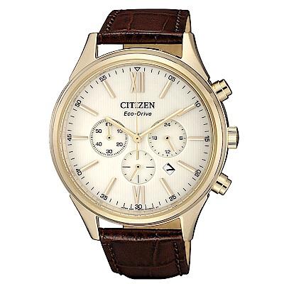 CITIZEN 超質感三眼計時光動能腕錶(CA4413-19A)