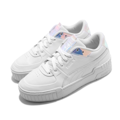 Puma 休閒鞋 Cali Sport Glow 運動 女鞋 海外限定 基本款 皮革 簡約 質感 穿搭 白 銀 37308301