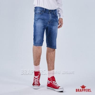 BRAPPERS 男款 HM-中腰系列-彈性五分褲-淺藍